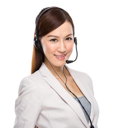 Female customer services operator photo