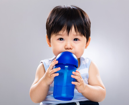 Baby drink with water bottle
