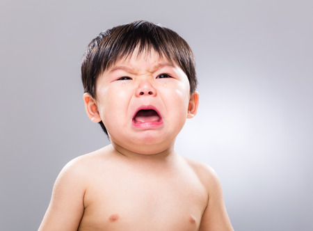 Asian baby cry photo