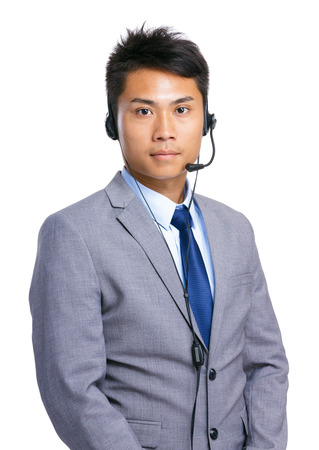 Businessman with headset photo