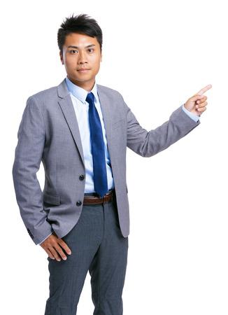 finer: Apuntando hacia arriba dedo Empresario