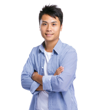 Handsome young asian man photo