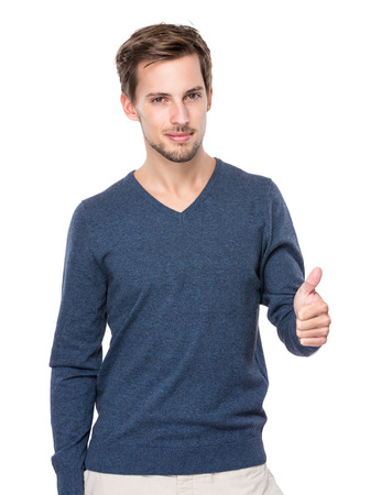 the well groomed: Man with thumb up Stock Photo