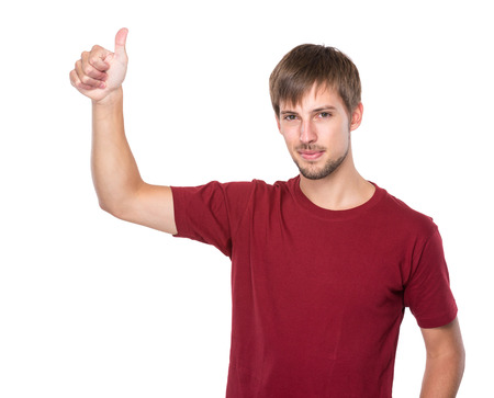 Man with thumb up photo
