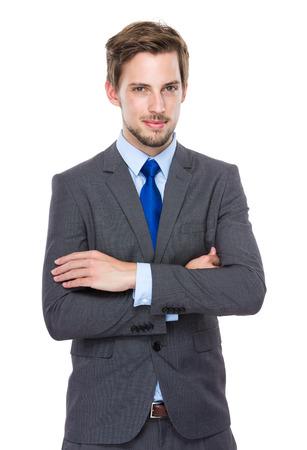 bonhomme blanc: Confiant homme d'affaires europ�en Banque d'images