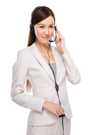 Customer services officer with headset photo