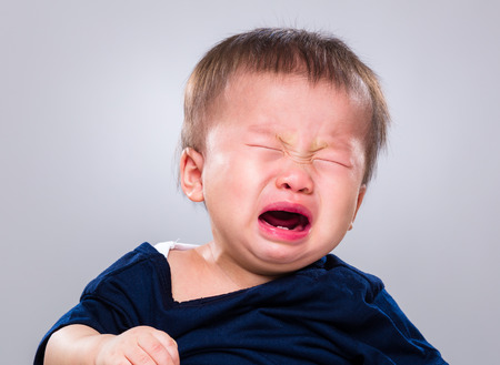 Baby boy crying Foto de archivo