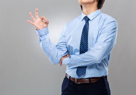 Businessman with ok sign photo