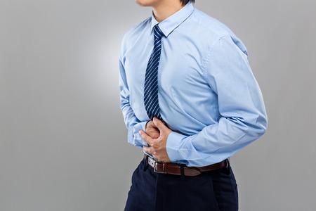 Businessman with serious diarrhea