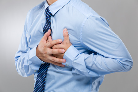 Businessman suffer from heart attack photo