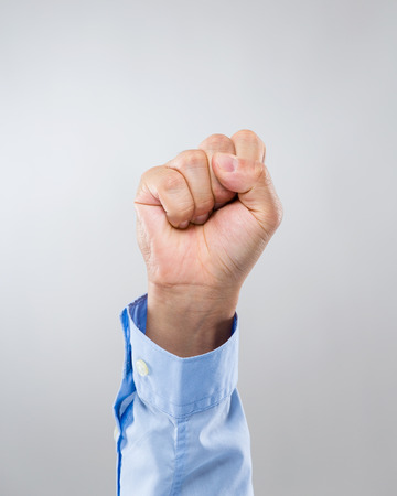clench: Businessman hand with clench fist