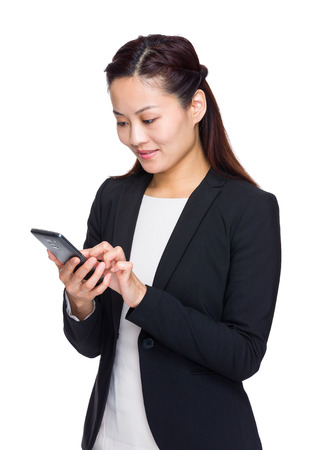 Asian businesswoman use smartphone photo