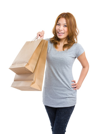 Woman with shopping bag photo