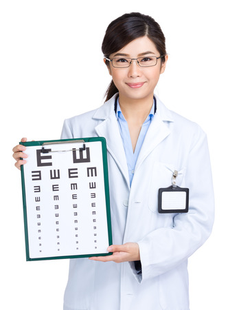 asian doctor: Optometrist woman doctor