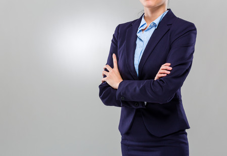 Businesswoman cross arm photo