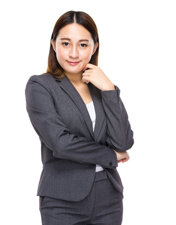 Asian mixed businesswoman photo