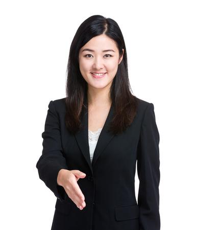 Business woman give handshake photo