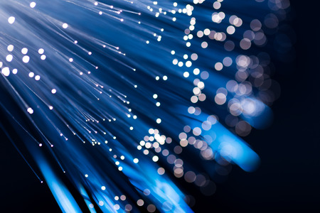 fibre: Blue fiber optic