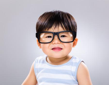 eye wear: Beb� sonriente con gafas