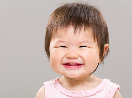 asian baby girl: Happy baby