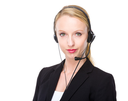 customer service representative: Female customer service representative Stock Photo