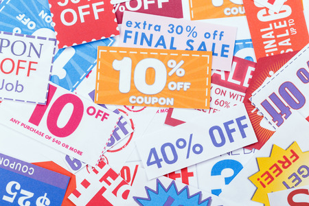 Discount coupons Stock fotó - 33271383