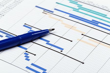 Projektplan mit Stift