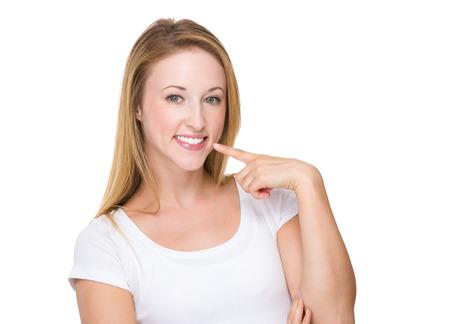 pretty women: Woman show the white teeth