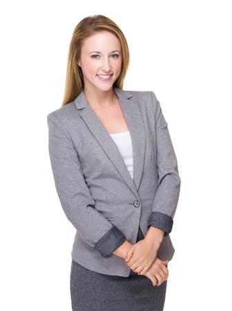 beautiful blonde: Business woman