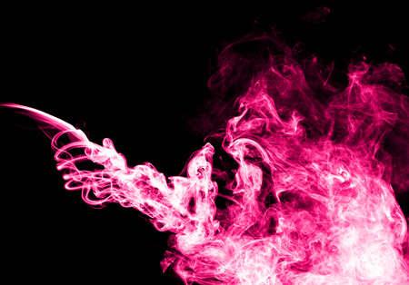 Pink smoke photo