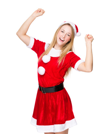 excite: Excite woman with christmas dress