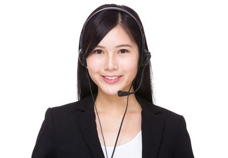 Customer services operator portrait Stock Photo