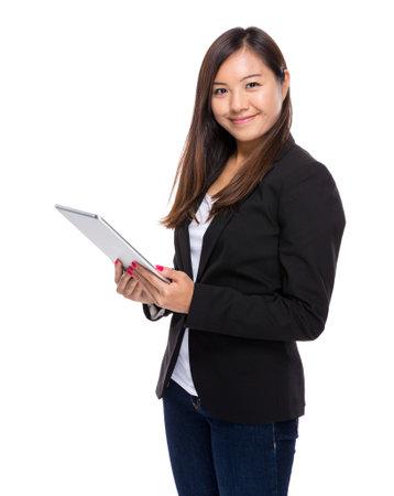 singaporean: Singaporean businesswoman use tablet