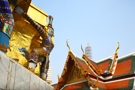the grand palace: Grand Palace in Thailand Stock Photo