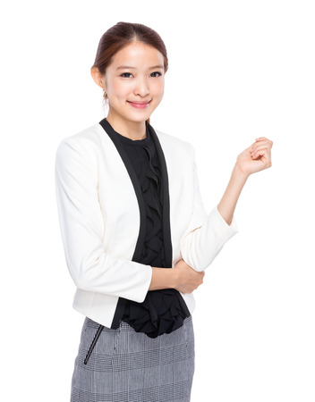 real esate: Young Businesswoman Stock Photo