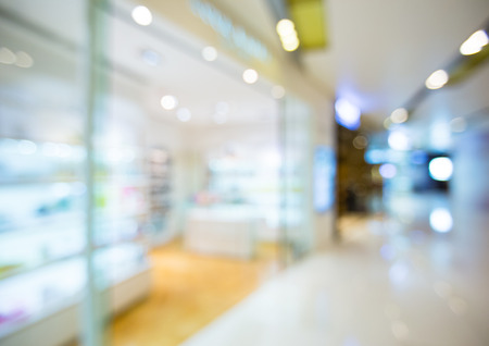 Blur view of Shopping mall photo