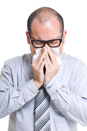 estornudo: Empresario estornudo