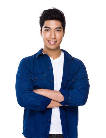 beau jeune homme: Confiant Man portrait