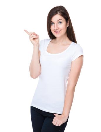 new idea: Woman got new idea Stock Photo
