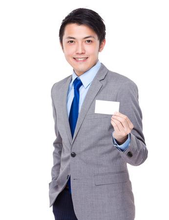 namecard: Businessman show with namecard