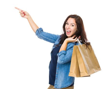 go shopping: Happy woman go shopping Stock Photo