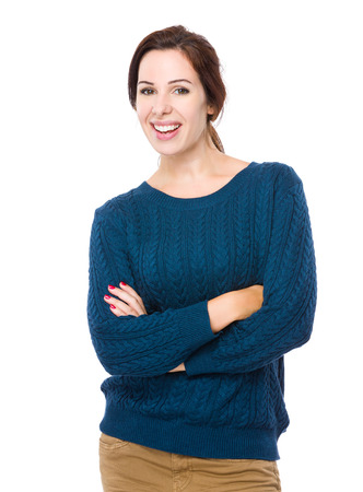 mature brunette: Happy woman