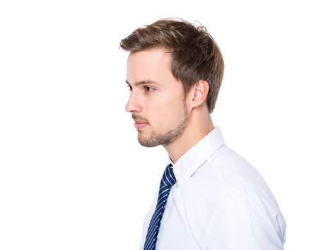 Side profile of businessman photo