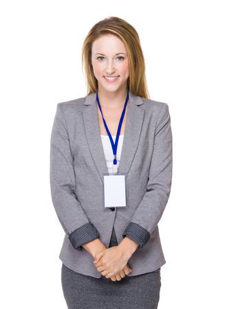 Caucasian Businesswoman portrait photo