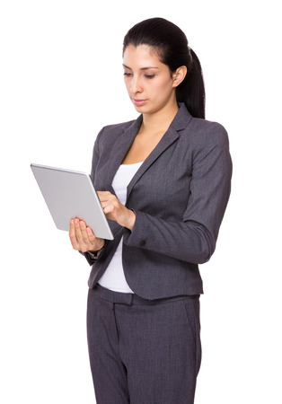 Business woman use tablet