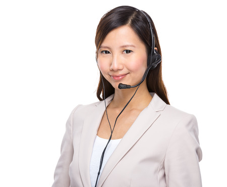 businesswoman suit: Call centre executive
