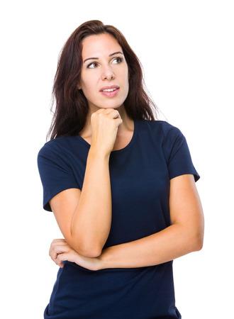 Woman look away photo