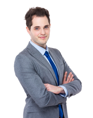 man arm: Caucasian Business man Stock Photo