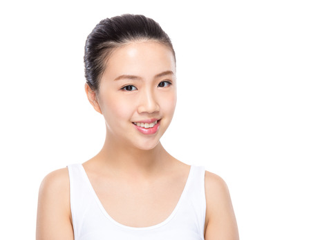 toothy: Woman with toothy smile Stock Photo