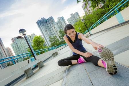 Oefening vrouw stretch